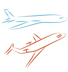 airline icon vector image vector image
