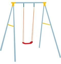 Children swing set vector image vector image