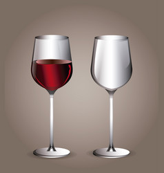 glass cup wine transparent image vector image vector image
