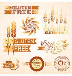 Gluten free design elements vector image
