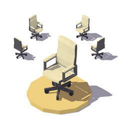 isometric low poly office chair vector image