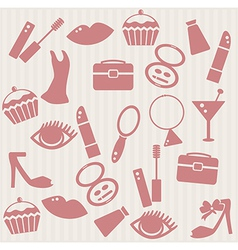 Seamless pattern with womans things vector image vector image