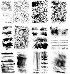 Set of textures vector image vector image