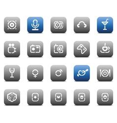 Stencil matt buttons for business vector image vector image