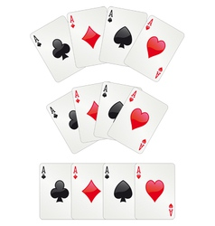 Three aces poker vector image