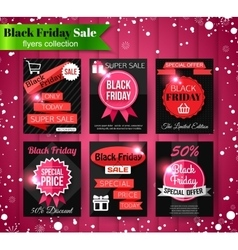Black Friday Sale banners flyers collection vector image vector image