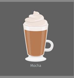 irish glass with mocha coffee flat vector image vector image