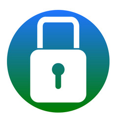 lock sign white icon in vector image