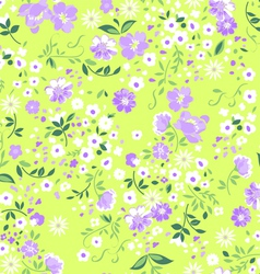 Pastel ditsy floral seamless background vector image vector image