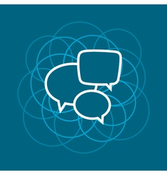 Speech Bubble Line Style Design vector image