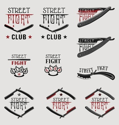 Street fight brass knuckles vector image