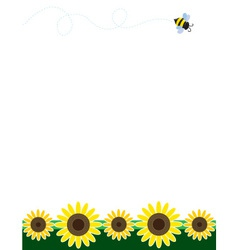 sunflower border vector image vector image