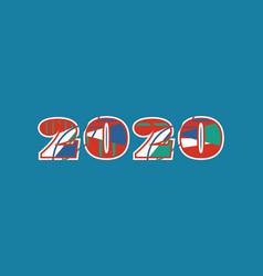 2020 concept word art vector