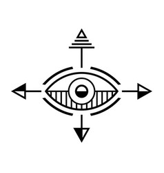 Abstract geometric shape vector
