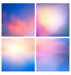 abstract nature blurred background set vector image