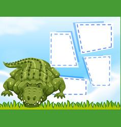 Aligator blank frame template vector