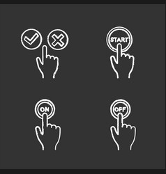 app buttons chalk icons set vector image