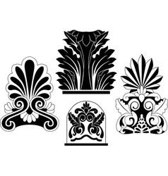 Architectural stencil vector