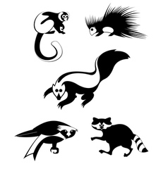 art animal silhouettes collection vector image