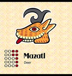 Aztec symbol Mazatl vector image