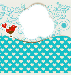 Baby shower with cute bird announcement in a vector