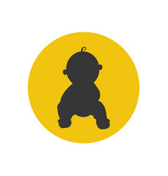 baby silhouette vector image