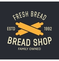 bakery logo label design elements vector image