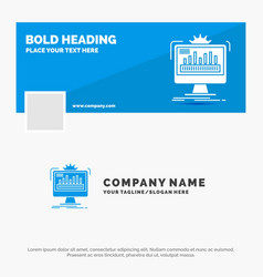 Blue business logo template for dashboard admin vector