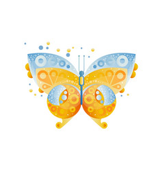 bright butterfly with beautiful pattern on the vector image