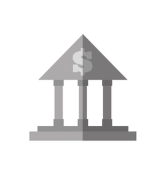 building bank money finance flat icon vector image