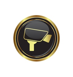 Camera icon button gold copy vector