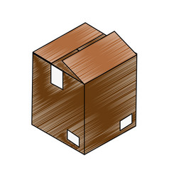 Cardboard box open vector