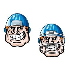 Cartoon player head vector image
