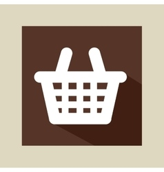 cartoon red basket e-commerce online icon vector image
