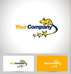 Chameleon logo design vector