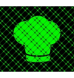 Chef cap Cooking Flat modern web button and space vector