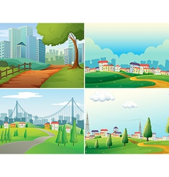 Cities and parks vector image