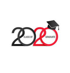 class 2020 elegant card vector image