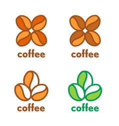 coffee grain beans logo vector image