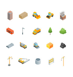 Construction multistory building concept icons vector