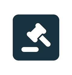 Court law icon Rounded squares button vector