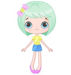 Cute Doll vector image
