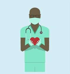 doctor flat design vector image