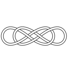 Double knot infinity sign double infinity vector