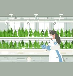 Eco farm with aquaponics system vector