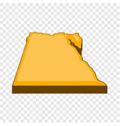 Egypt map icon cartoon style vector