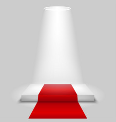 Empty square stage podium on gray background vector