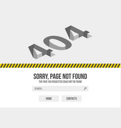 error 404 page not found website 404 web failure vector image