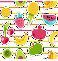 exotic summer fruits seamless pattern vector image