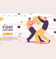 Fight for likes and popularity at social media vector